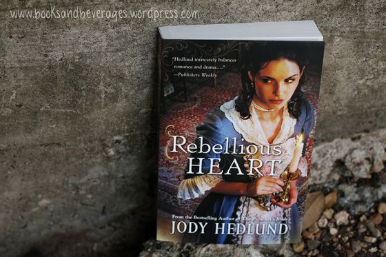"""Review from Jamie at Books & Beverages Blog: """"I do believe A Rebellious Heart is my favorite of Hedlund's novels. And trust me that's saying something since I love every other one! This even gets the title of one of my favorite reads this year."""""""