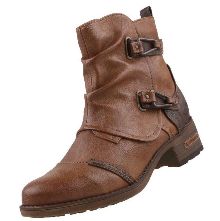 Nuevos zapatos Mustang Mujer Botas Botas de mujer forrado BOOTY Zapatos  | eBay