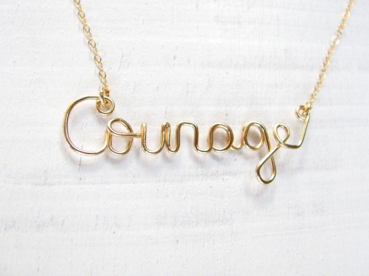 """Halskette // Necklace """"courage"""" by matok via DaWanda.com"""