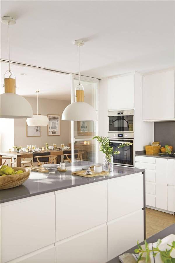 Interior House Colors, Home Interior, Kitchen Interior, Kitchen Decor, Interior Design, Elegant Kitchens, Beautiful Kitchens, Kitchen Layout, Kitchen Design