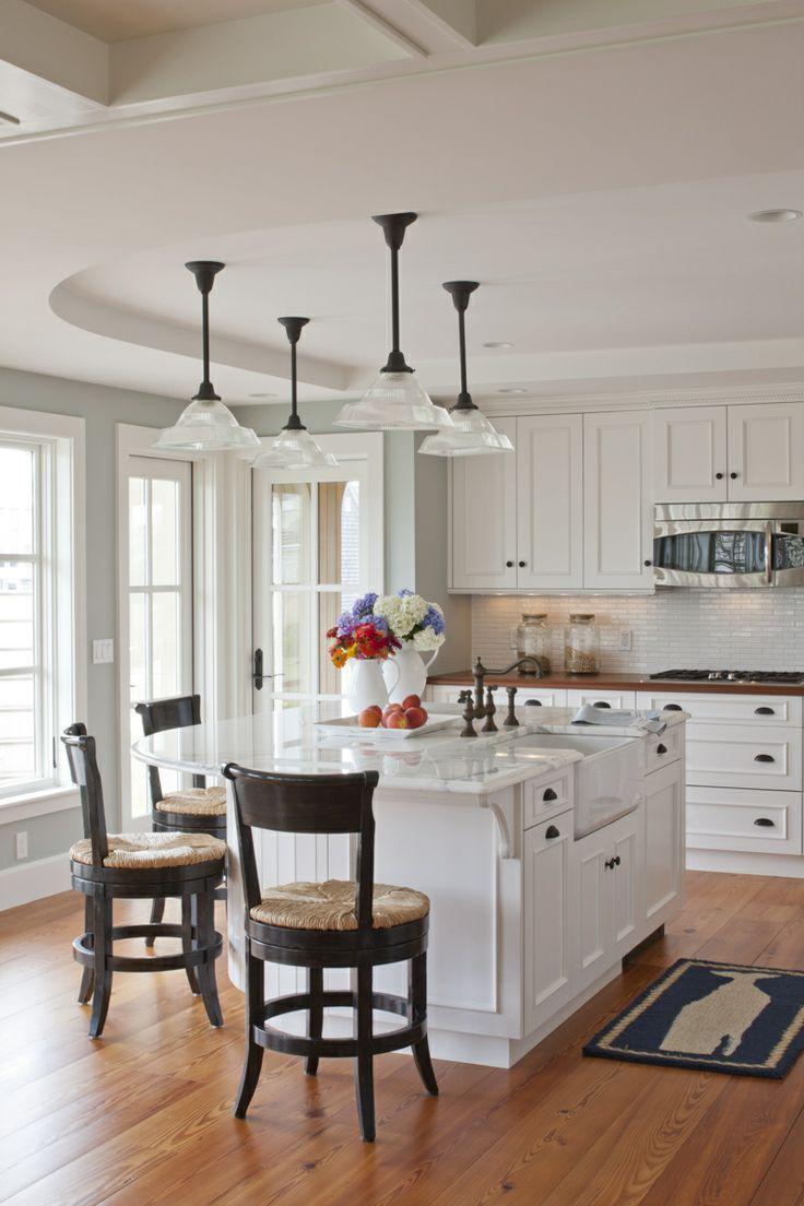 coastal kitchens with white cabinets Best 25+ Round kitchen island ideas on Pinterest | Large