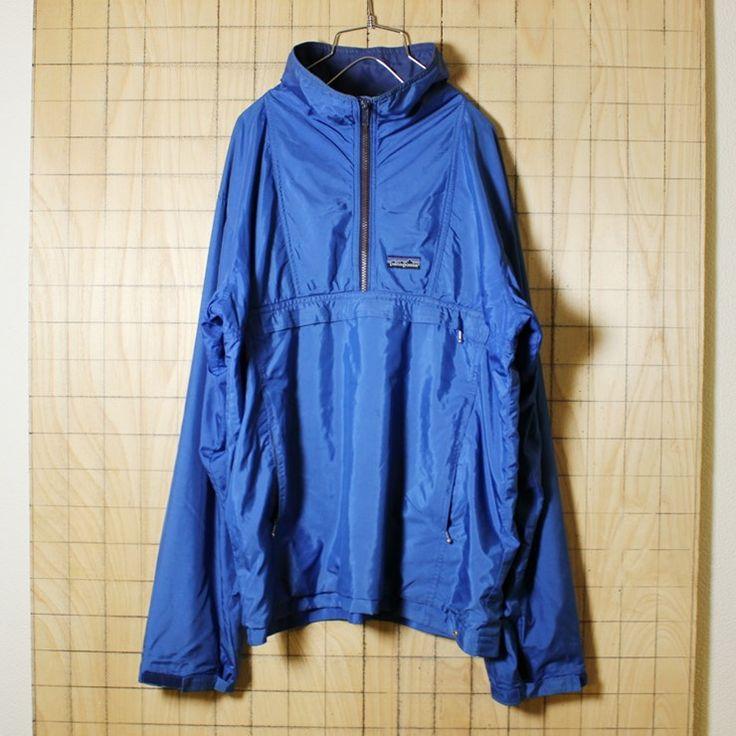 patagoniaパタゴニア/カナダ製古着/ブルー/ハーフジップナイロンジャケット/メンズM