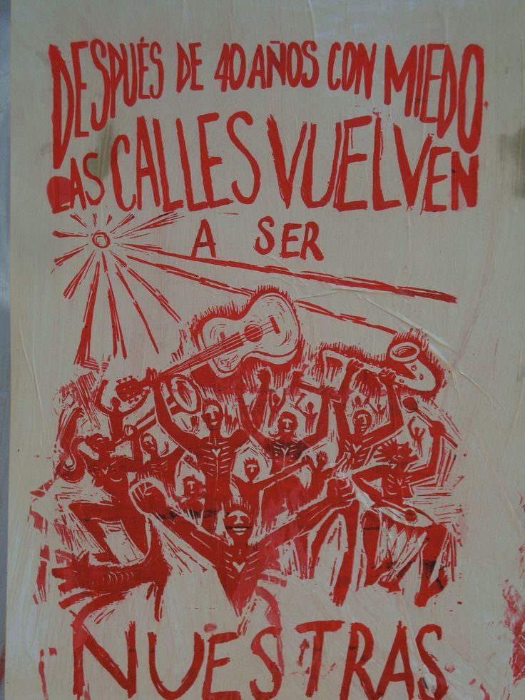 Después de 40 años con miedo. Santiago de Chile, Romería al Cementerio General, 8 de sept. de 2013. A 40 años del golpe.