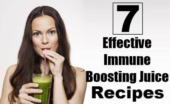 7 Effective Immune Boosting Juice Recipes  http://www.tophealthremedies.com/7-effective-immune-boosting-juice-recipes/