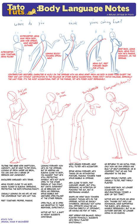 Drawing reference - Body Language Notes   Drawing References and Resources   Scoop.it