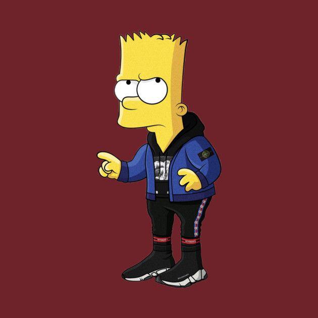 Hypebeast Bart Simpson In 2019 Simpsons Art Bart Simpson