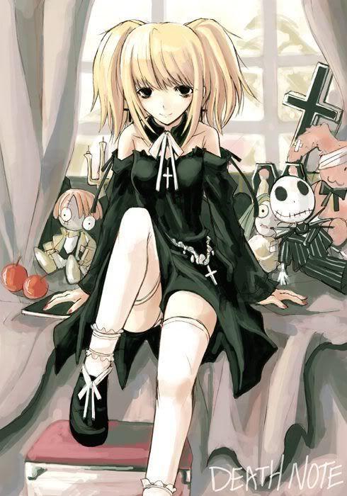 goth anime, love the hair (I love both Goth things and Anime/Manga.)