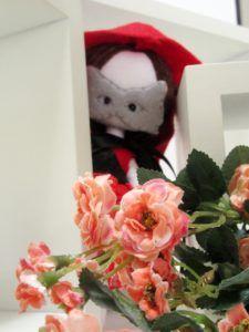 Red Riding Hood, poupée de chiffon petit chaperon rouge, masque de loup, Wolfe mask, demoiselle de chiffon