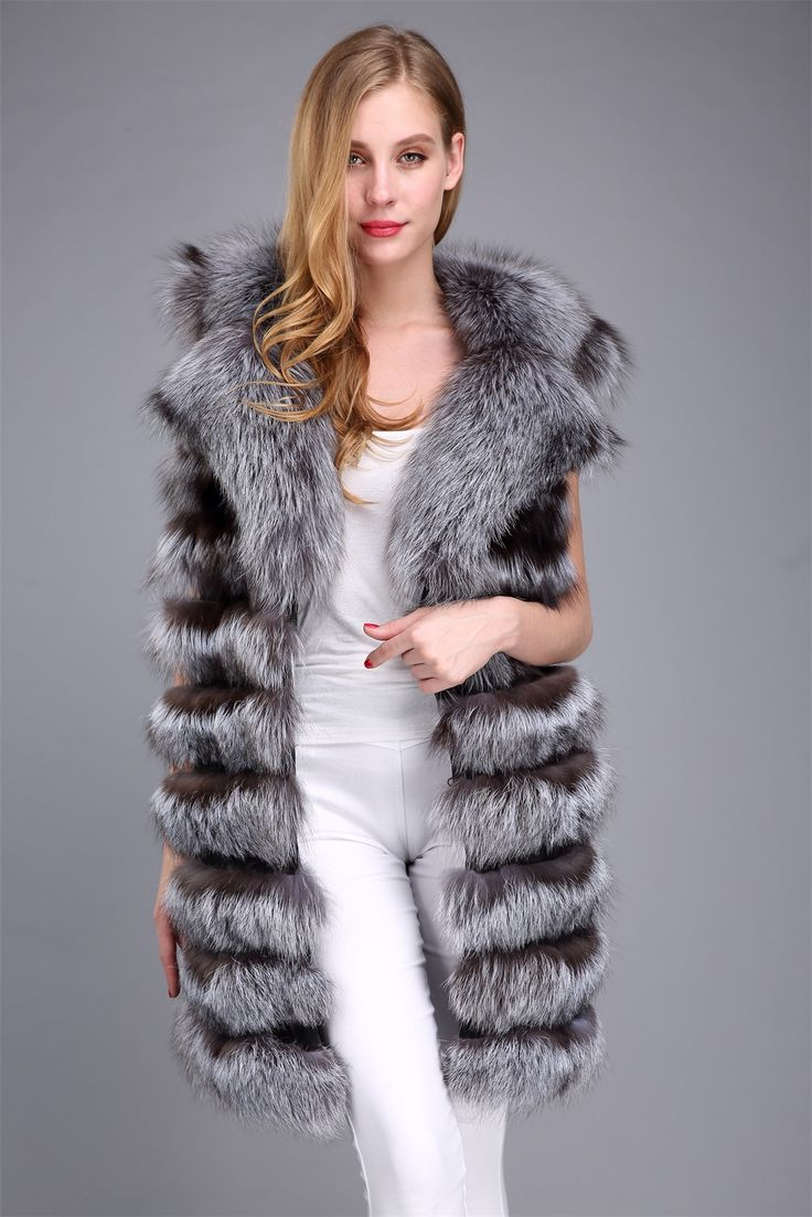 silver fox fur vest ,US$269.Many more fur models ,please contact us .eileenhou.lvcomeff