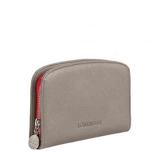 Oscar Grey Louenhide Zip Up Wallet - White Apple Gifts