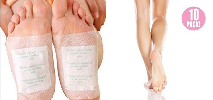 $10 for a Set of 10 OR $14 for a Set of 20 Detoxifying Foot Patches - Tax Included (Up to $39 Value)
