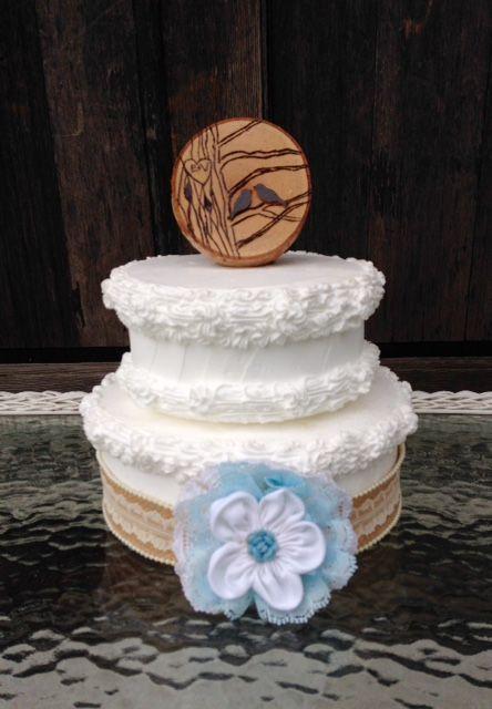 Wood Slice Cake Topper, Love Birds Cake Topper, Rustic cake topper, Wooden Cake topper, Rustic Wedding, Custom cake topper, Wood slice