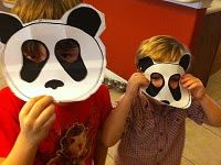Easy to make Giant Panda masks! Boys had fun with these! Pandas are awesome!