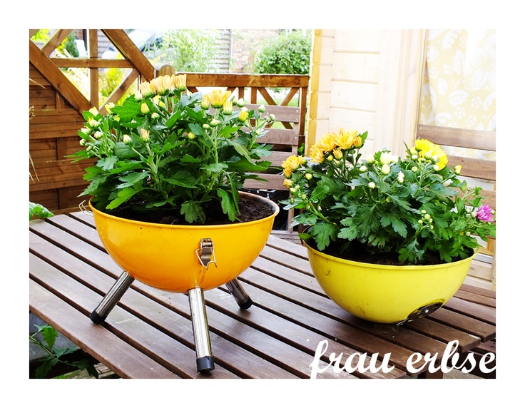 1000 images about repurposed grill on pinterest hooks for Recycled flower pots