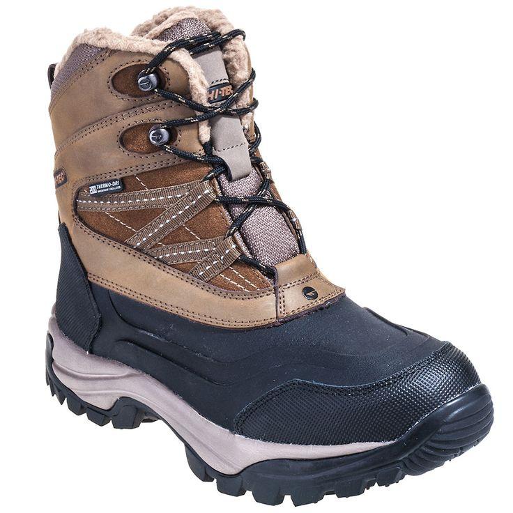 Hi-Tec Boots 58010 Mens Brown Snow Peak Waterproof Insulated Winter Boots