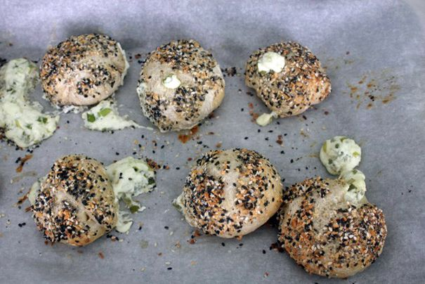 bagel bombs with cream cheese filling | Blog Food Inspiration | Pinte ...