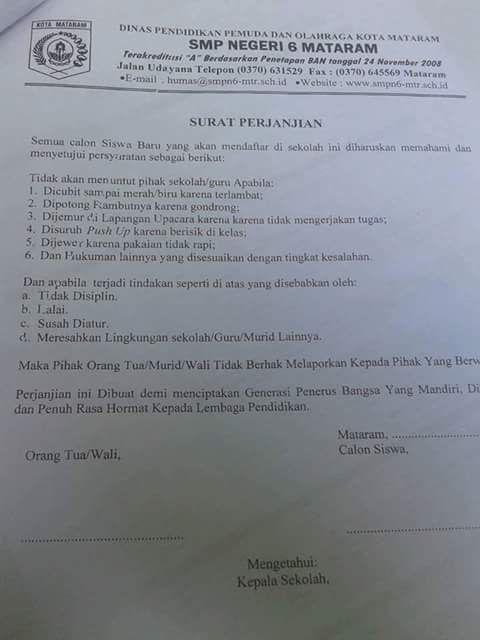 Surat Perjanjian Konyol, Hehehe - Info Guru dan Kepegawaian