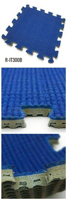 Blue Interlocking Rubber Mats Track for Sports Area.