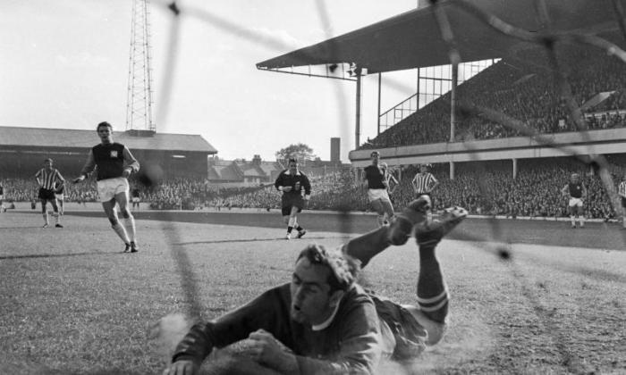 West Ham Score a penalty against Sheffield United in 1964