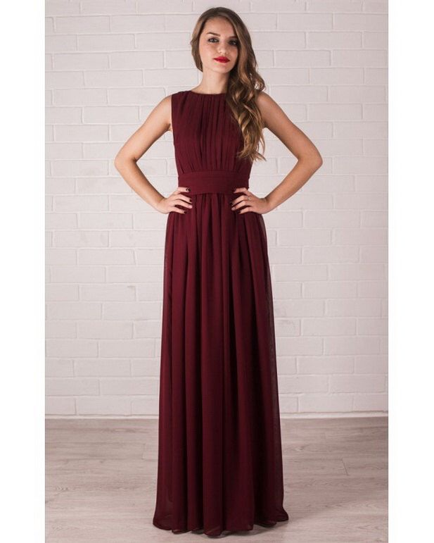 Floor Length Evening Dress Marsala. Chiffon Dress Bridesmaid. by Dioriss on Etsy https://www.etsy.com/listing/255249322/floor-length-evening-dress-marsala More