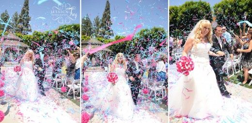 Awesome confetti exit! Photo by Jessica Frey Photography
