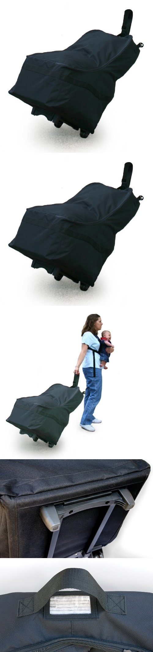 JL Childress Wheelie Car Seat Travel Bag Black