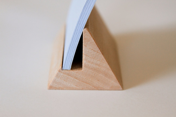 Triangle Business Card stand, $24