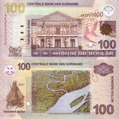 100 Dollars Suriname's Banknote
