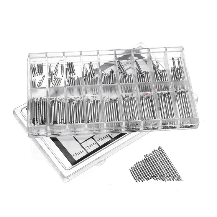 180Pcs 8-25mm Spring Bars Strap Pin Repair Fix Kit for Watch Wrist Bands Strap Removal Tool