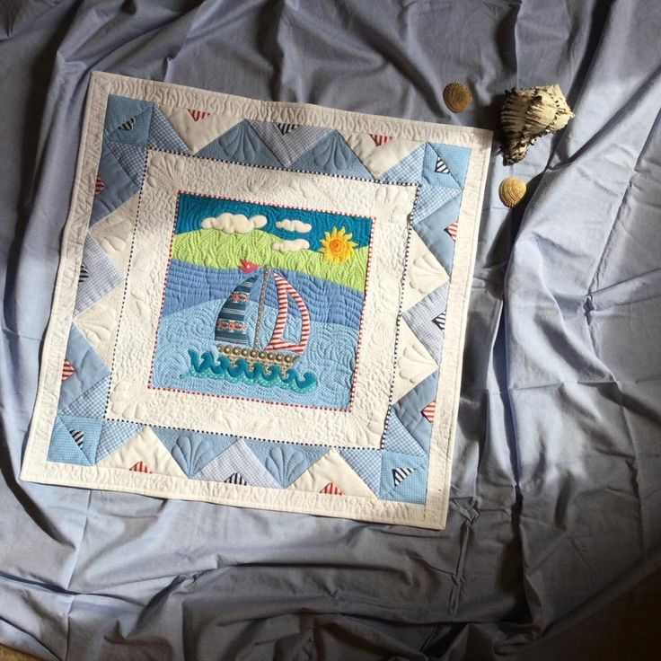 sailing boat baby quilt