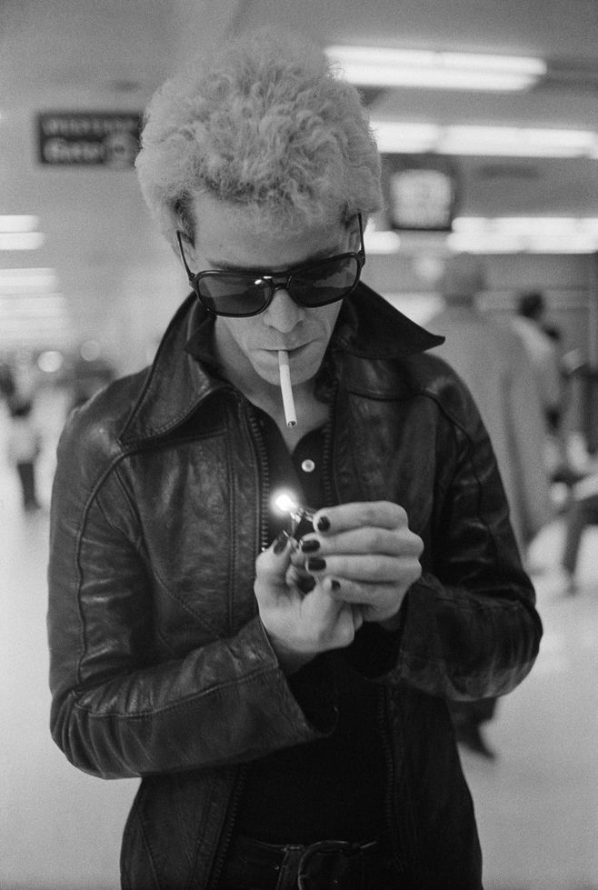 Lou Reed photographed by Michael Zagaris, 1974.
