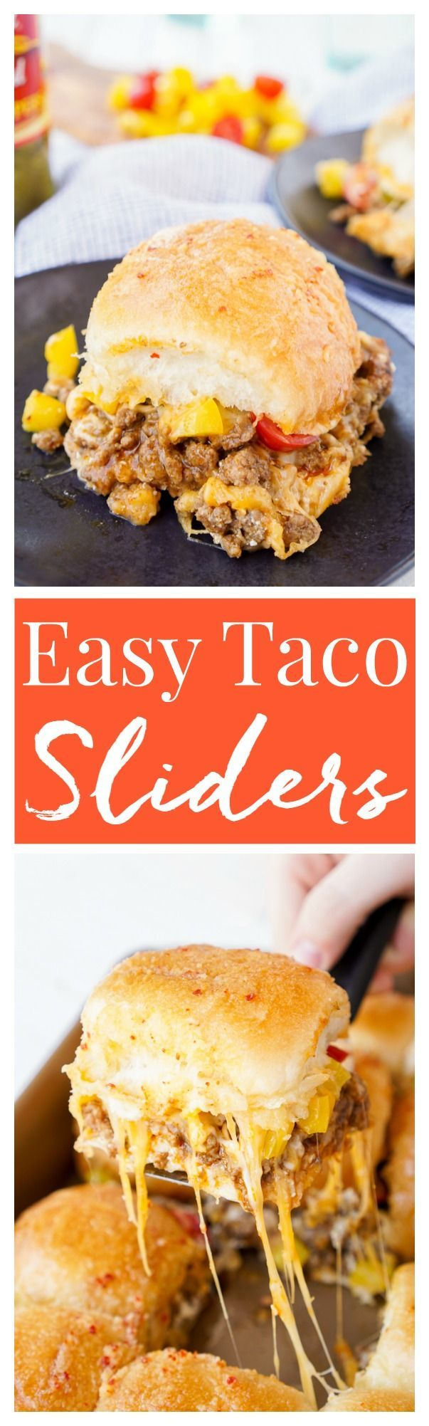 These Easy Taco Sliders are a great alternative to traditional tacos! They're simple to make and loaded with flavor, a sure crowd-pleaser and a great use for leftover taco meat too!