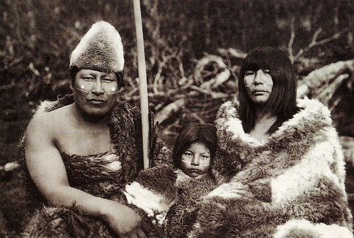 Selk'nam people of Patagonia.