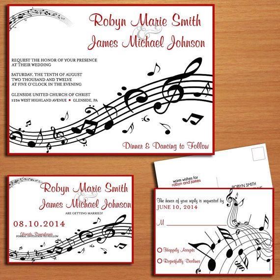 Raccolta di musica personale nozze / invito / RSVP / salva la