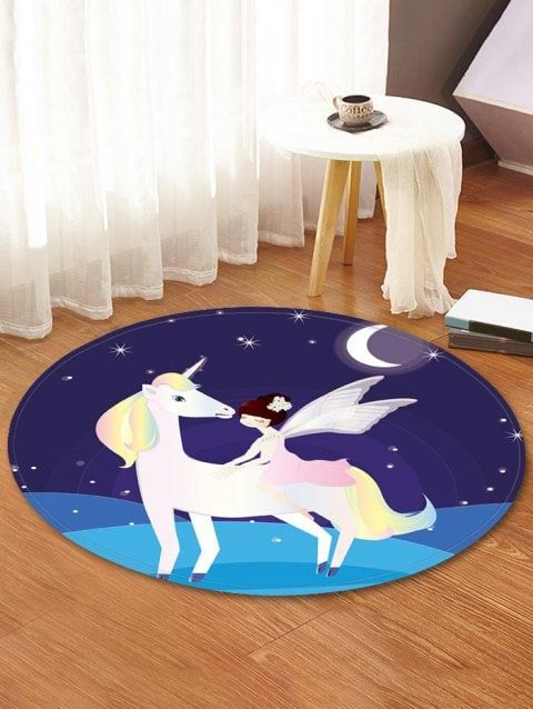Unicorn Fairy Pattern Anti Skid Water Absorption Area Rug In 2018