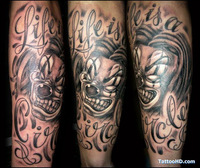 Clown Girl Tattoo Meaning: 25 Best Evil Clown Tattoo Designs Sleeves Images On