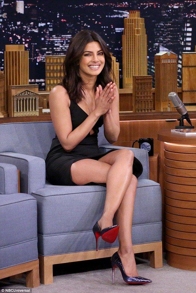 Priyanka Chopra.. Elizabeth and James dress, and Christian Louboutin heels..