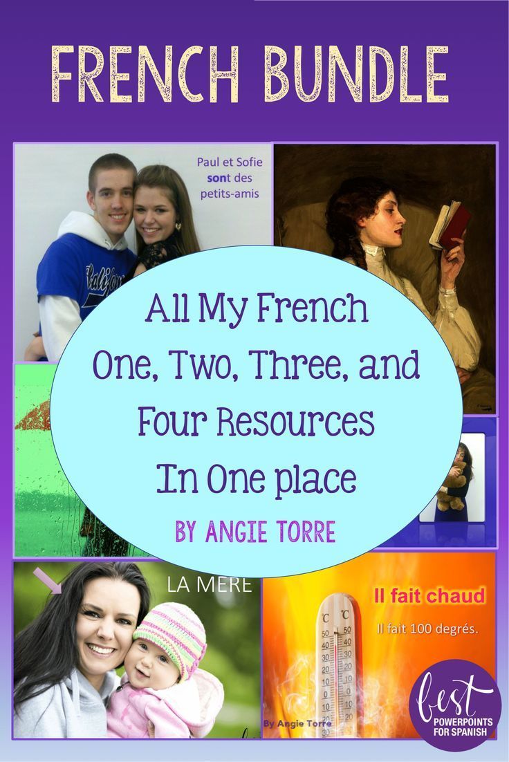 185027 best french learning images on pinterest french language french bundle all my french one two three and four resources in one place kristyandbryce Choice Image