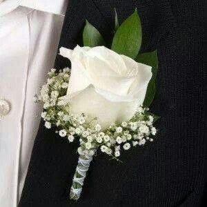 White Rose Boutineer
