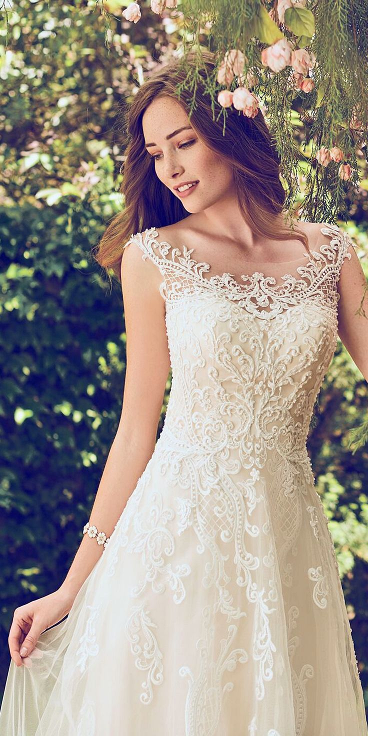 @MaggieSottero - Dress: Alexis - 7RT307 from Maggie Sottero's Rebecca Ingram Collection. This flirty A-line gown features distinctive crosshatch motifs embellished with Swarovski crystals, delicate beading, and sequins. Illusion details accented in lace appliqués create beautiful back interest. Finished with covered buttons over zipper closure. Learn more: http://wedfrwd.co/2mkCBga #weddingdress #ad