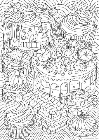 Sweet Treats Most Popular Coloring Pages Printable Adult
