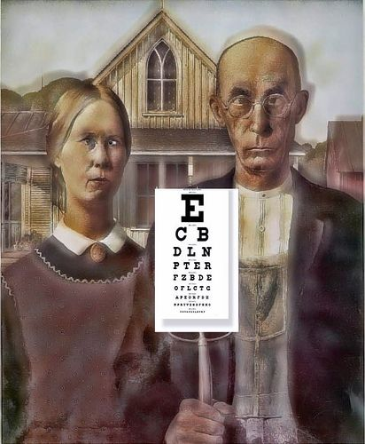 American Gothic Satire-I need to get my glasses.