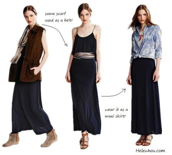 Ways to dress up a maxi skirt