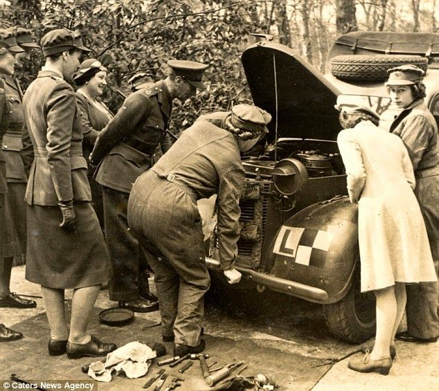 Rare Pictures of Queen Elizabeth II Serving in World War II