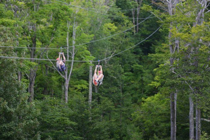 The Epic Zipline In New York That Will Take You On The Adventure Of A Lifetime Ziplining Zipline Adventure Hunter Mountain