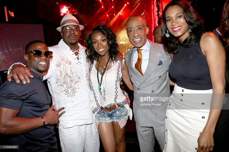 Kevin Hart, Bobby Brown, Brandy Norwood, Al Sharpton, and Aisha McShaw attend the 2013 Essence Festival at the Mercedes-Benz Superdome on July 6, 2013 in New Orleans, Louisiana.