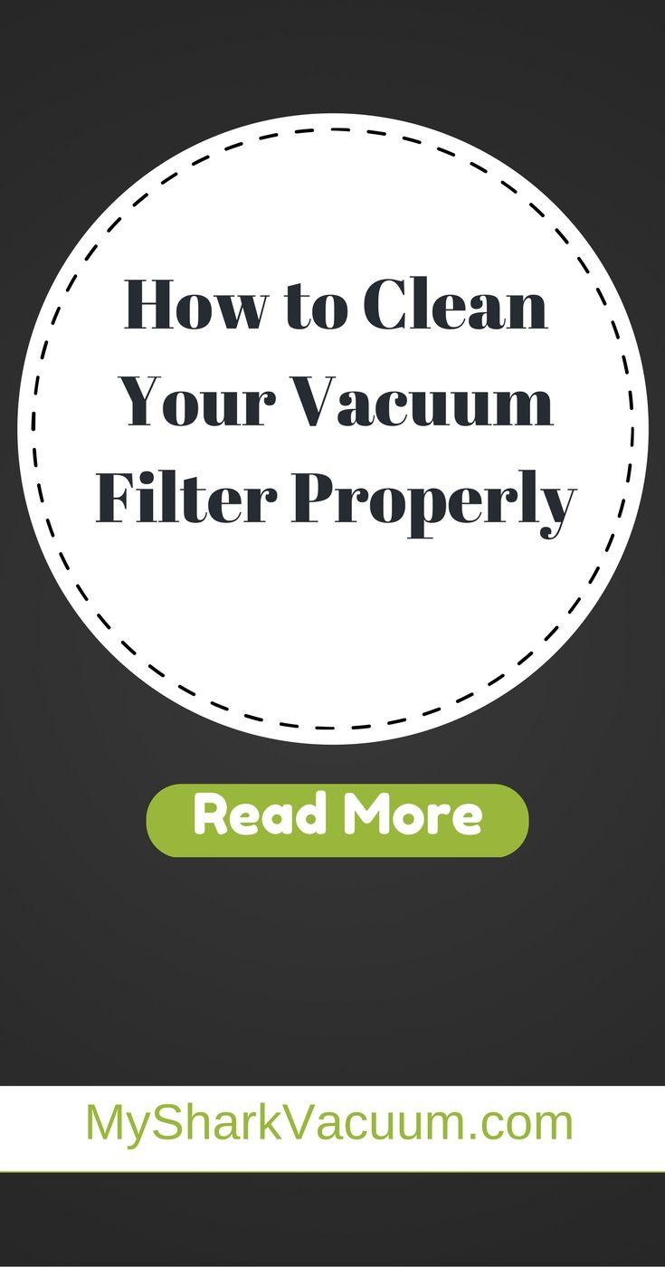How to Clean Vacuum Filter Properly MySharkVacuum