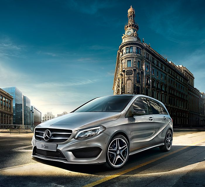 The front section of the new B-Class embodies sportiness and emotional appeal.