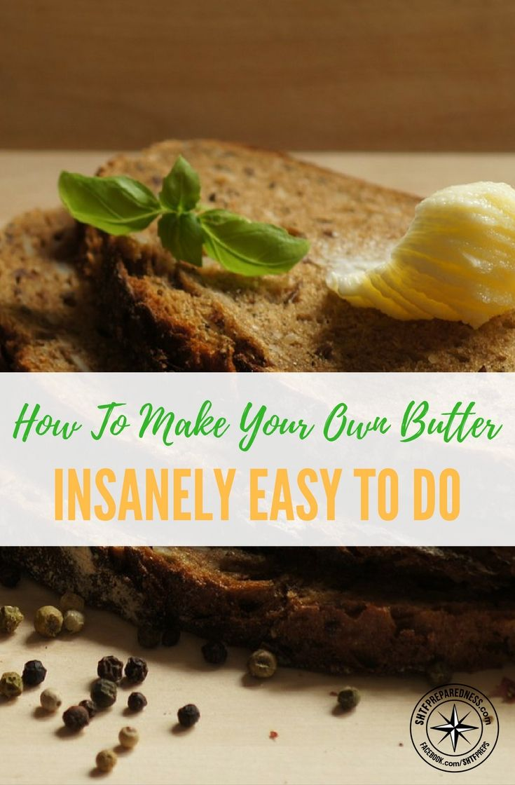 How To Make Your Own Butter (INSANELY EASY TO DO) — While it's a good idea to consume butter in moderation, when made with cream from grass-fed cows raised on pasture, it does have virtues that go beyond its rich flavor. Such butter is high in conjugated linoleic acid (CLA), a beneficial fatty acid that protects against some forms of cancer.