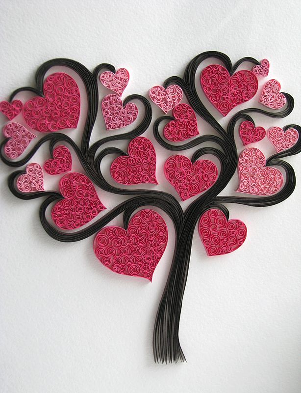345 best images about quilling ideas on pinterest for Quilling heart designs